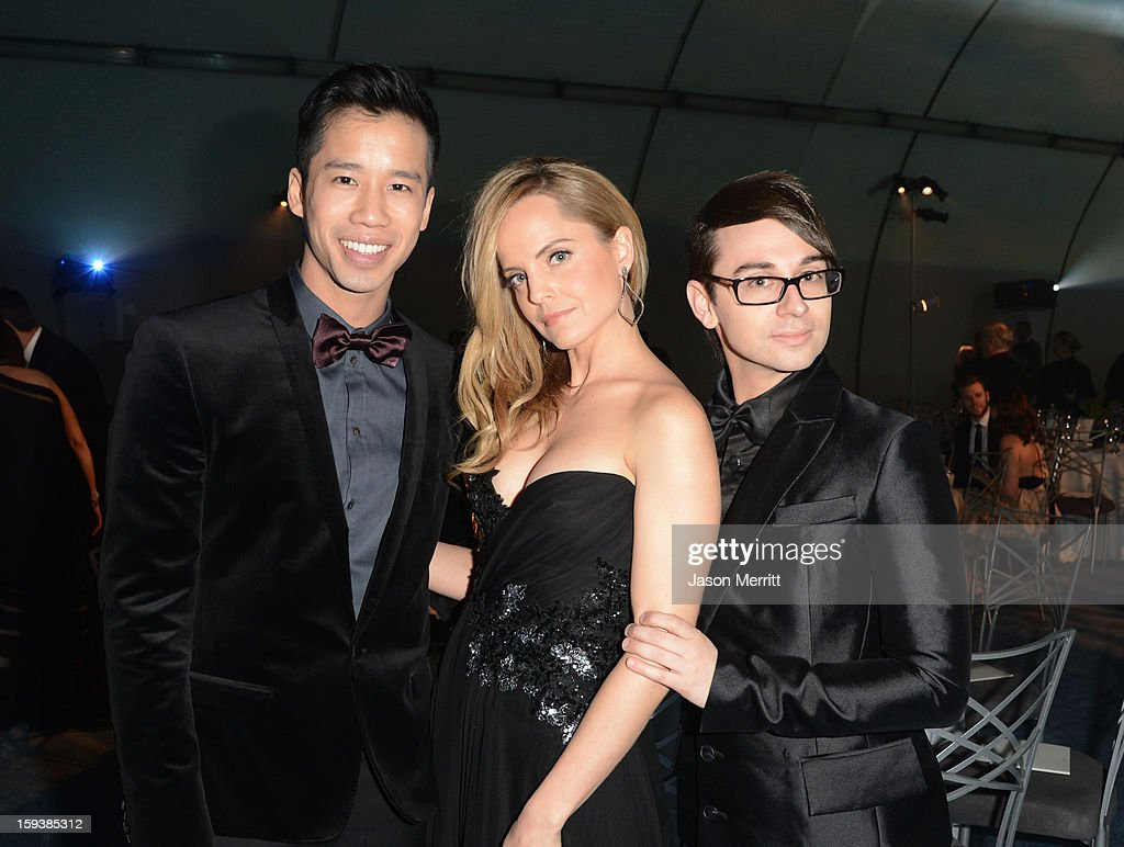 Blogger Jared Eng, actress Mena Suvari and designer Christian Siriano attend The Art of Elysium's 6th Annual HEAVEN Gala presented by Audi at 2nd Street Tunnel on January 12, 2013 in Los Angeles, California.