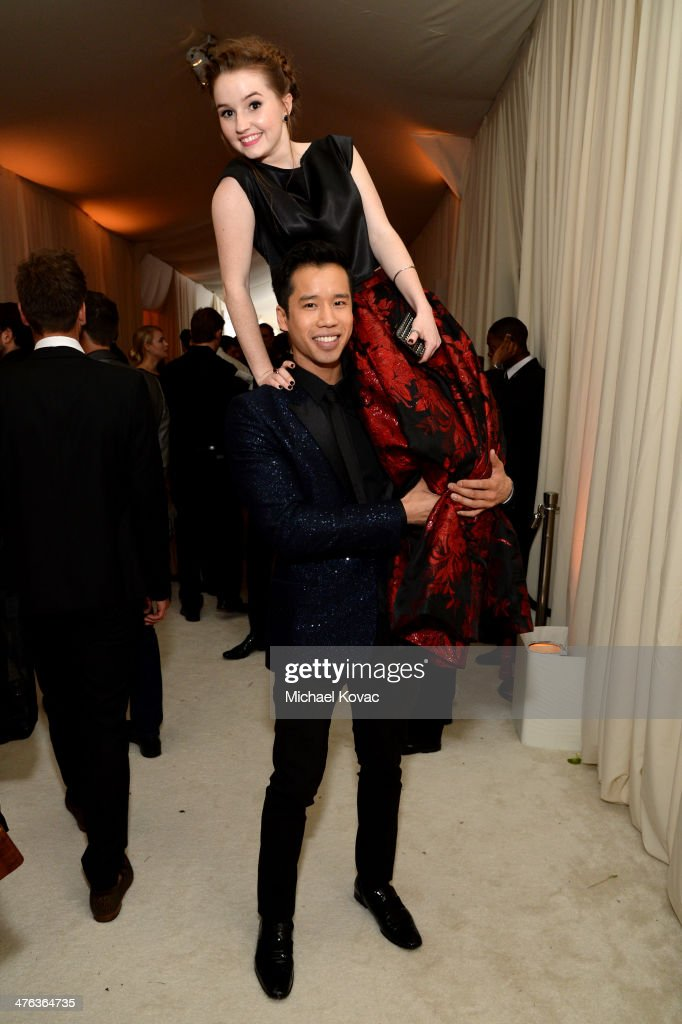 Blogger Jared Eng and actress Kaitlyn Dever attend the 22nd Annual Elton John AIDS Foundation Academy Awards Viewing Party at The City of West Hollywood Park on March 2, 2014 in West Hollywood, California.