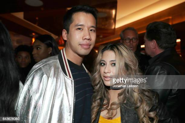Blogger Jared Eng and singer Ally Brooke attend Vanity Fair and L'Oreal Paris Toast to Young Hollywood hosted by Dakota Johnson and Krista Smith at...