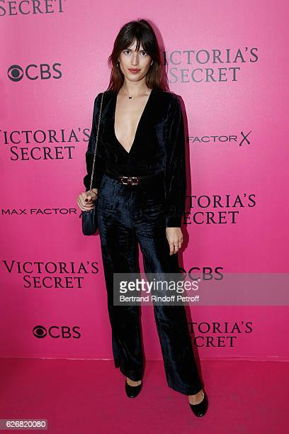 Blogger Jeanne Damas attends the 2016 Victoria's Secret Fashion Show Held at Grand Palais on November 30 2016 in Paris France