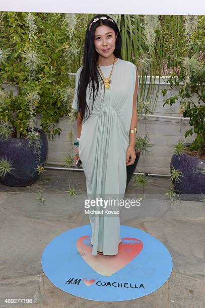Blogger Jenny Wu attends the Official HM Loves Coachella Party at the Parker Palm Springs on April 10 2015 in Palm Springs California