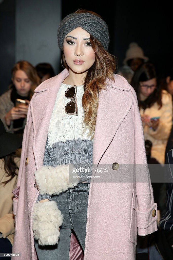 Blogger Jessica Wang attends Taoray Wang fashion show during Fall 2016 New York Fashion Week: The Shows at The Dock, Skylight at Moynihan Station on February 13, 2016 in New York City.