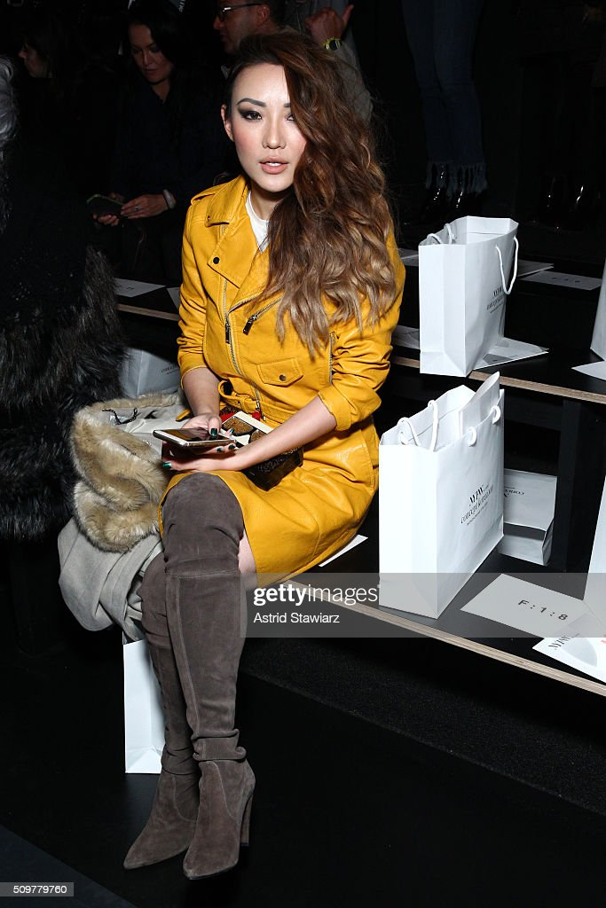 Blogger Jessica Wang attends the Concept Korea Fall 2016 fashion show during New York Fashion Week: The Shows at The Dock, Skylight at Moynihan Station on February 12, 2016 in New York City.