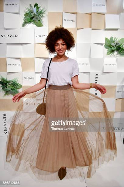 Blogger Julia Dalia dressed in RESERVED attends the RESERVED opening party on May 20 2017 in Berlin Germany