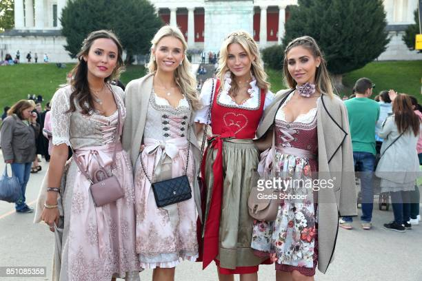 Blogger Laura Noltemeyer Scarlett Gartmann girlfriend of Marco Reus Mandy Bork and Ann Kathrin Broemmel fiance of Mario Goetze at the 'Madlwiesn'...