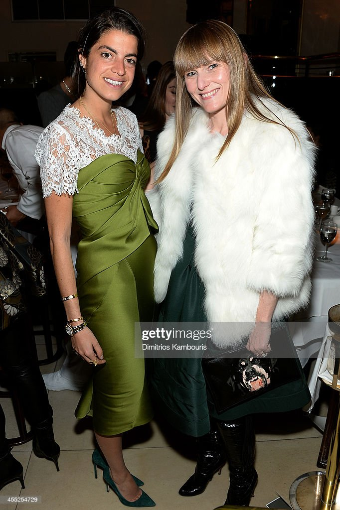 Blogger <a gi-track='captionPersonalityLinkClicked' href=/galleries/search?phrase=Leandra+Medine&family=editorial&specificpeople=7491795 ng-click='$event.stopPropagation()'>Leandra Medine</a> and Editor-in-chief of Teen Vogue <a gi-track='captionPersonalityLinkClicked' href=/galleries/search?phrase=Amy+Astley&family=editorial&specificpeople=653167 ng-click='$event.stopPropagation()'>Amy Astley</a> attend MAC Cosmetic's John Demsey and Zac Posen's dinner to celebrate his Pre- Fall Collection at Mr Chow on December 11, 2013 in New York City.
