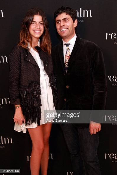 Blogger Leandra Medine and guest attend Realm's Celebration of Fashion's Night Out on September 8 2011 in New York City