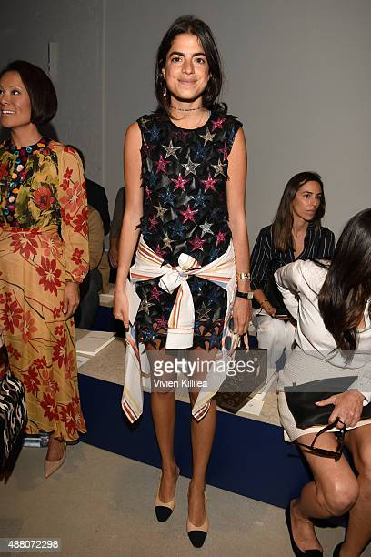 Blogger Leandra Medine attends Derek Lam Spring 2016 during New York Fashion Week The Shows at The Gallery Skylight at Clarkson Sq on September 13...