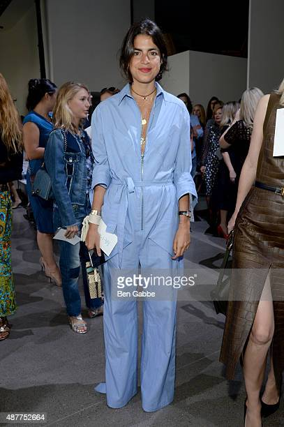 Blogger Leandra Medine attends the Jason Wu fashion show during Spring 2016 New York Fashion Week at Spring Studios on September 11 2015 in New York...