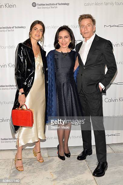 Blogger Leandra Medine FIT President Dr Joyce F Brown and designer Calvin Klein attend the 2016 Future of Fashion Runway Show at The Fashion...