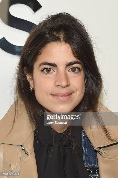 Blogger Leandra Medine of The Man Repeller poses backstage at the Michael Kors fashion show during MercedesBenz Fashion Week Fall 2015 at Spring...