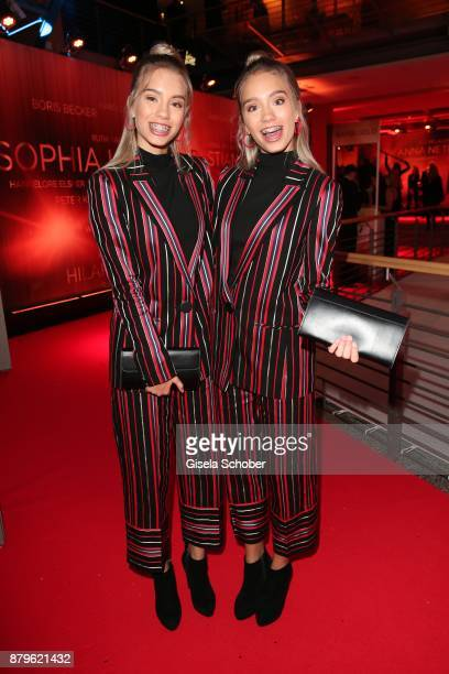 Blogger Lena and Lisa during the Bambi Awards 2017 at Stage Theater on November 16 2017 in Berlin Germany