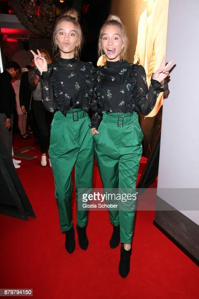 Blogger Lisa and her twin sister Lena Influencer of the year during the New Faces Award Style 2017 at 'The Grand' hotel on November 15 2017 in Berlin...