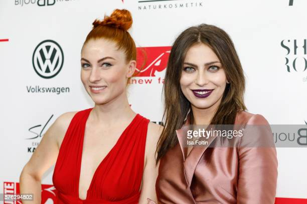 Blogger Lisa Banholzer and blogger Masha Sedgwick attend the New Faces Award Style 2017 at The Grand on November 15 2017 in Berlin Germany