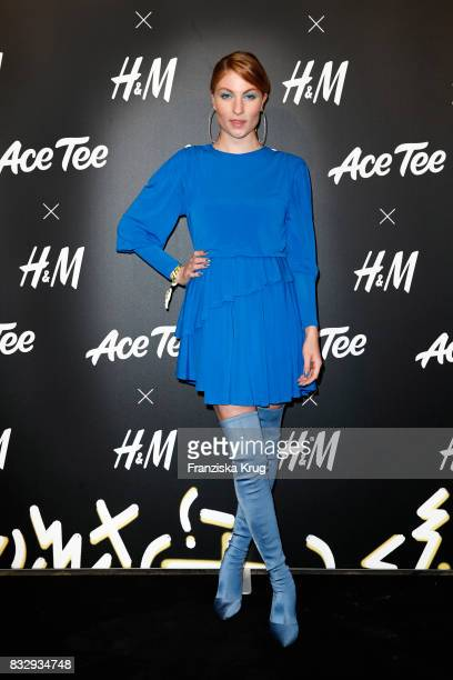 Blogger Lisa Banholzer attends the HM Acee Tee showcase on August 16 2017 in Berlin Germany