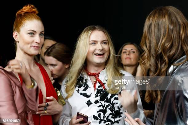Blogger Lisa Banholzer blogger Jack Strify and influencer Riccardo Simonetti attend the New Faces Award Style 2017 at The Grand on November 15 2017...