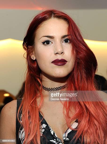Blogger Luanna Perez attends Nanette Lepore Presentation Spring 2016 New York Fashion Week at Nanette Lepore on September 15 2015 in New York City