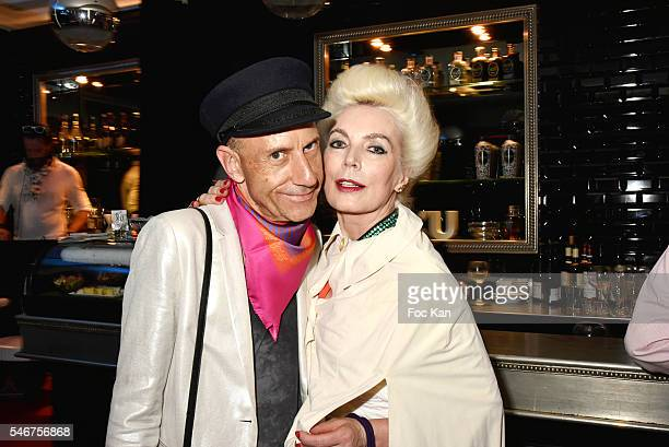 Blogger Lutin En Folie and Rodica Paleologue attend the Dexter Dex Tao Birthday Party at the Xu Sushis bar on July 12 2016 in Paris France