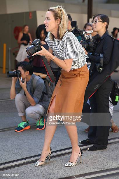 Blogger Mandy Shadforth attends MercedesBenz Fashion Week Australia 2015 at Carriageworks on April 13 2015 in Sydney Australia