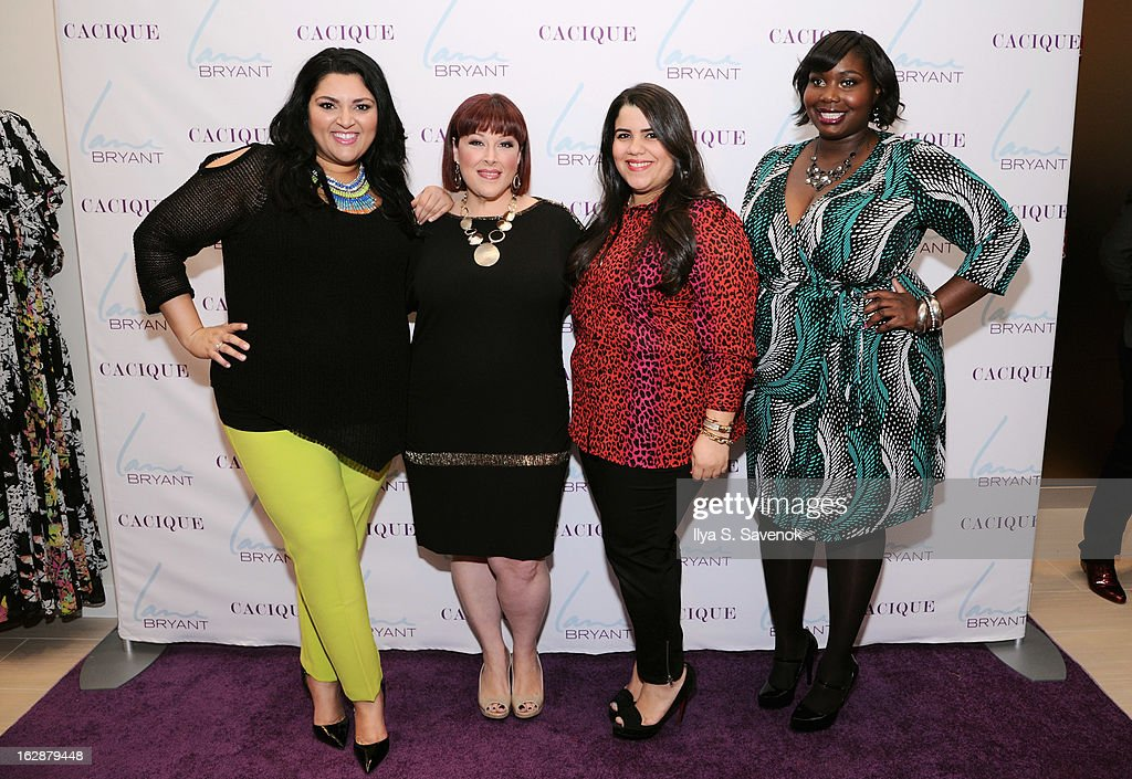Blogger Marcy Guevara, Singer/TV host Carnie Wilson, and bloggers Ashley Falcon and Alissa Wilson attend Carnie Wilson & Jay Manuel Celebrate Lane Bryant's NYC Flagship on February 28, 2013 in New York City.