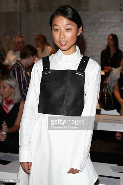 Blogger Margaret Zhang attends the Bianca Spender show at MercedesBenz Fashion Week Australia 2015 at Carriageworks on April 15 2015 in Sydney...