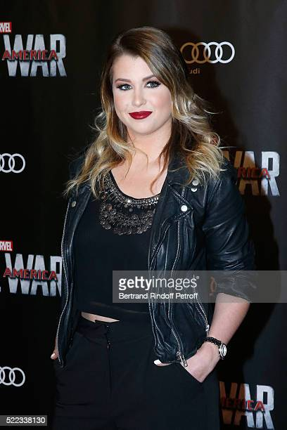 Blogger Marie Lopez alias EnjoyPhoenix attends the 'Captain America Civil War' Paris Premiere Held at Le Grand Rex on April 18 2016 in Paris France