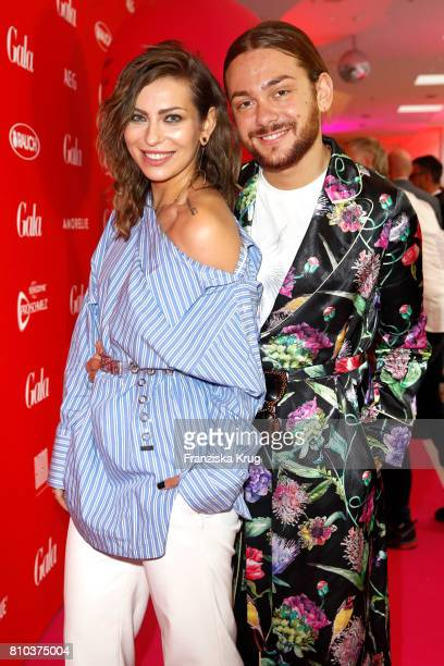 Blogger Masha Sedgwick and Riccardo Simonetti attend the Gala Fashion Brunch during the MercedesBenz Fashion Week Berlin Spring/Summer 2018 at...