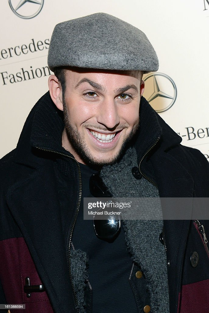 Blogger Micah Jesse attends the Mercedes-Benz Start Lounge at Lincoln Center on February 10, 2013 in New York City.
