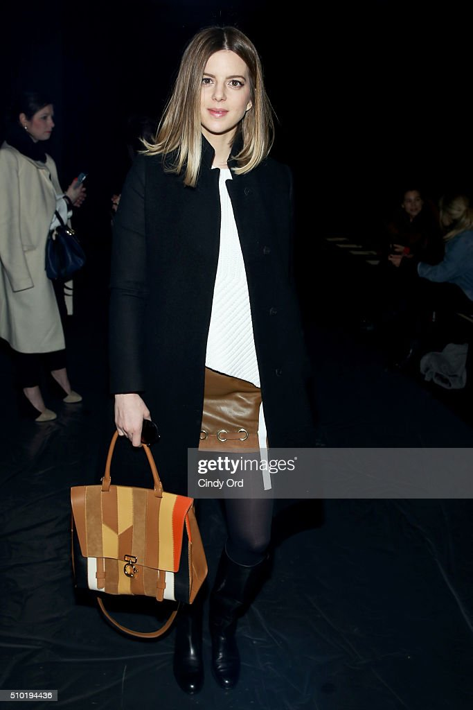 Blogger Michelle Madse attends the Tome Fall 2016 fashion show during New York Fashion Week: The Shows at The Dock, Skylight at Moynihan Station on February 14, 2016 in New York City.