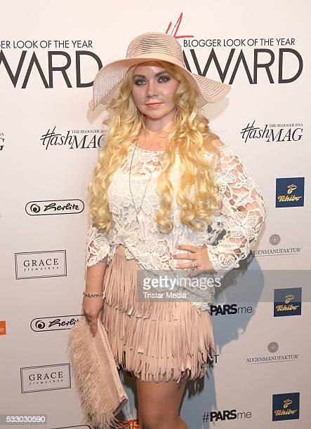 Blogger Nadine Trompka poses during the 2016 Blogger of the Year Award on May 19 2016 in Hamburg Germany