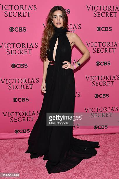 Blogger Negin Mirsalehi attends the 2015 Victoria's Secret Fashion Show at Lexington Avenue Armory on November 10 2015 in New York City