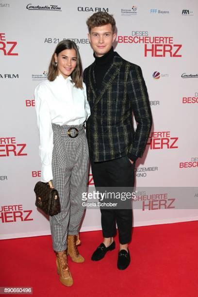 Blogger Nina Schwichtenberg and her boyfriend Patrick Kahlo during the 'Dieses bescheuerte Herz' premiere at Mathaeser Filmpalast on December 11 2017...