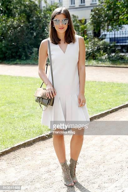 Blogger Nina Schwichtenberg attends the Dorothee Schumacher show during the MercedesBenz Fashion Week Berlin Spring/Summer 2017 at Elisabethkirche on...