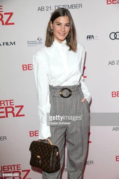 Blogger Nina Schwichtenberg during the 'Dieses bescheuerte Herz' premiere at Mathaeser Filmpalast on December 11 2017 in Munich Germany