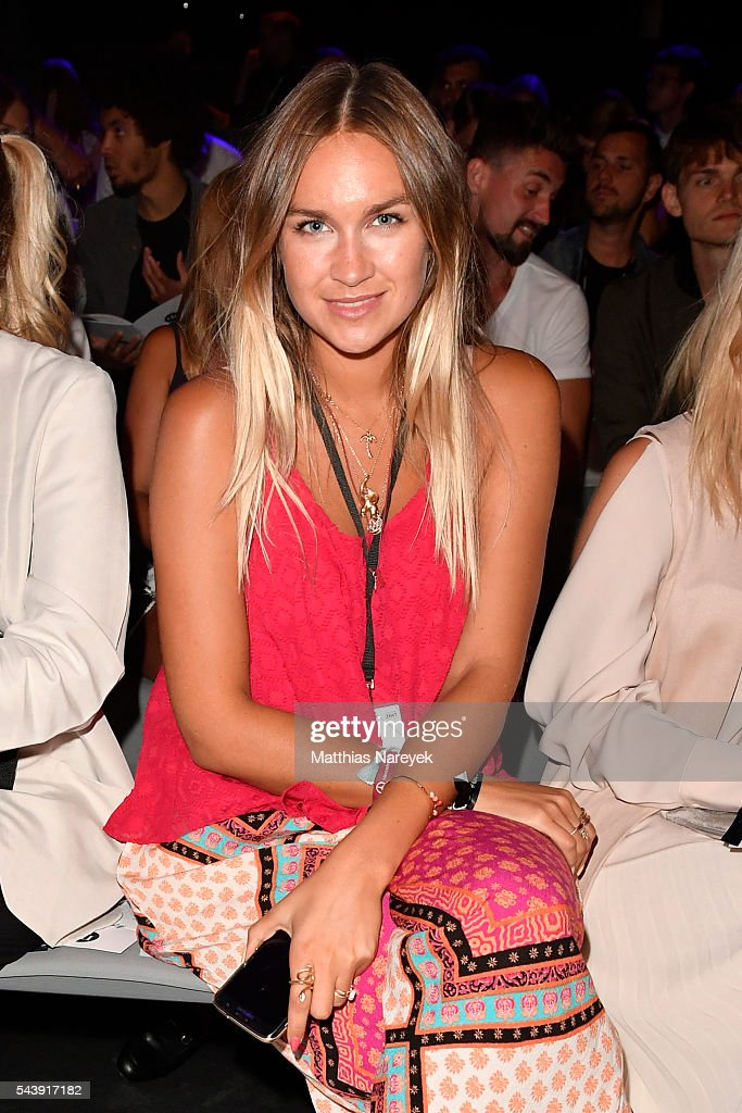 Blogger Nina Suess attends the 'Designer for Tomorrow' show during the Mercedes-Benz Fashion Week Berlin Spring/Summer 2017 at Erika Hess Eisstadion on June 30, 2016 in Berlin, Germany.