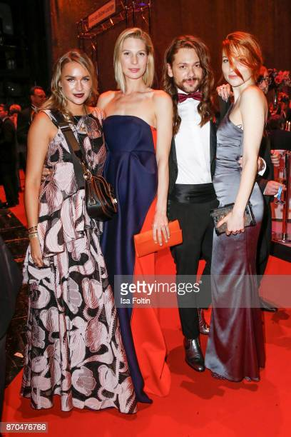Blogger Nina Suess Model Sarah Brandner influencer Riccardo Simonetti and influencer Masha Sedgwick attend the aftershow party during during the 24th...