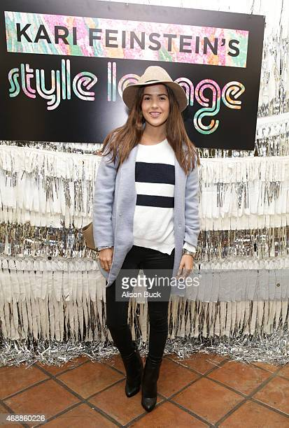 Blogger Paola Alberdi attends Kari Feinstein's Music Festival Style Lounge at Sunset Marquis Hotel Villas on April 7 2015 in West Hollywood California