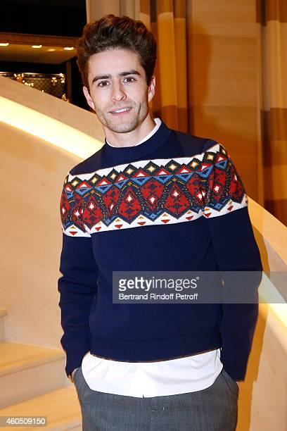Blogger Pelayo Diaz attends the Louis Vuitton Montaigne Store ReOpening party at Louis Vuitton Avenue Montaigne Store on December 15 2014 in Paris...