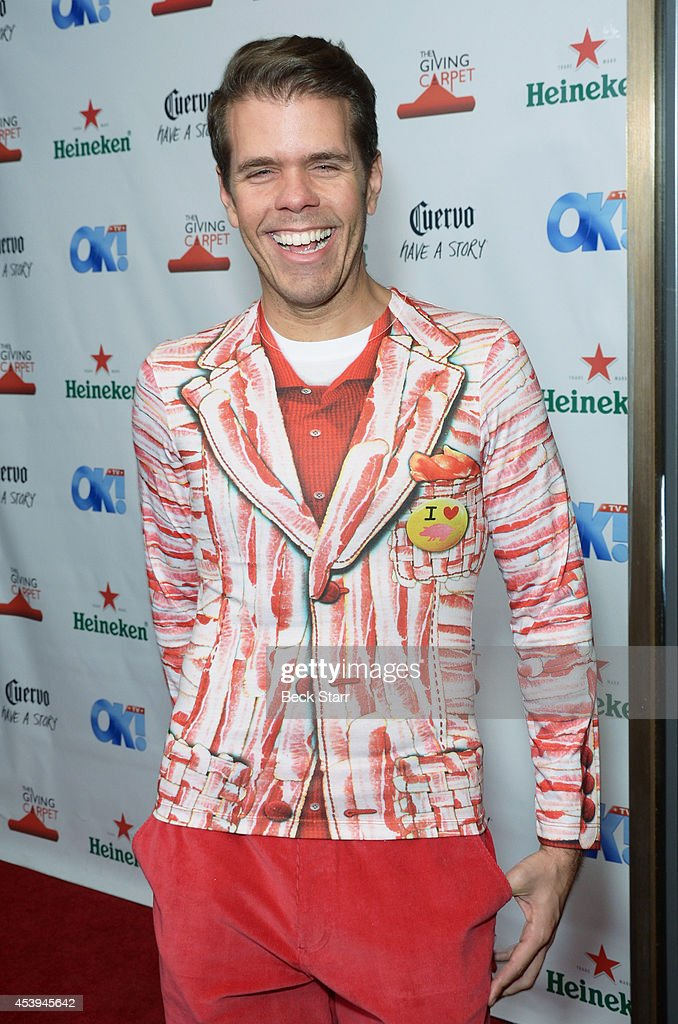 Blogger Perez Hilton arrives at OK! TV Emmy pre-awards party honoring the Emmy nominees and presenters at Sofitel Hotel on August 21, 2014 in Los Angeles, California.