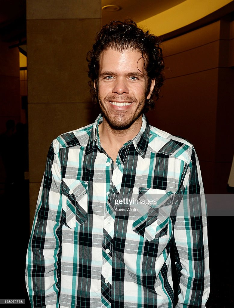 Blogger <a gi-track='captionPersonalityLinkClicked' href=/galleries/search?phrase=Perez+Hilton&family=editorial&specificpeople=598309 ng-click='$event.stopPropagation()'>Perez Hilton</a> arrives to see comedienne Kathy Griffin perform at the Dolby Theatre on May 4, 2013 in Los Angeles, California.