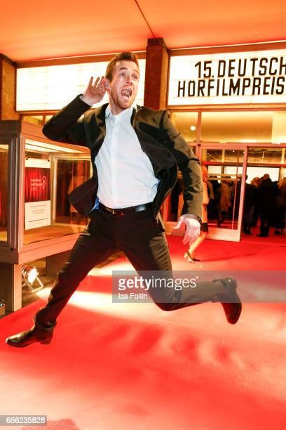 Blogger Philipp Stehler arrives at the Deutscher Hoerfilmpreis at Kino International on March 21 2017 in Berlin Germany