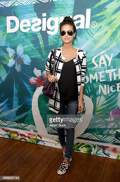 Blogger Racquel Natasha attends Kari Feinstein's Music Festival Style Lounge at Sunset Marquis Hotel Villas on April 7 2015 in West Hollywood...