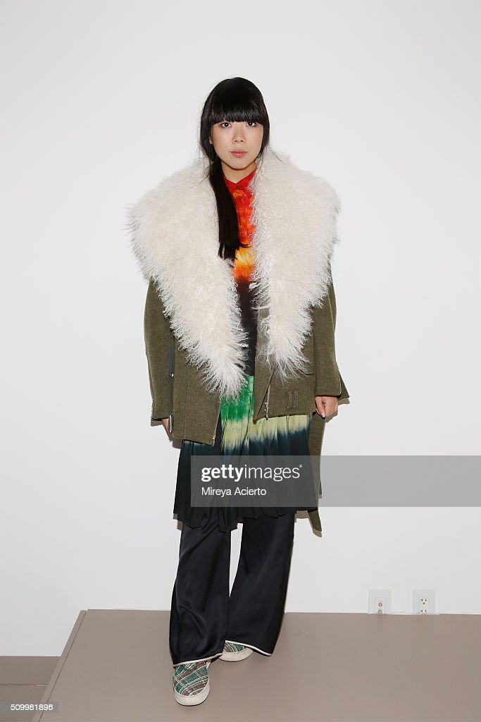 Blogger <a gi-track='captionPersonalityLinkClicked' href=/galleries/search?phrase=Susanna+Lau&family=editorial&specificpeople=6937945 ng-click='$event.stopPropagation()'>Susanna Lau</a> attends Dion Lee fashion show during Fall 2016 MADE Fashion Week at Milk Studios on February 13, 2016 in New York City.