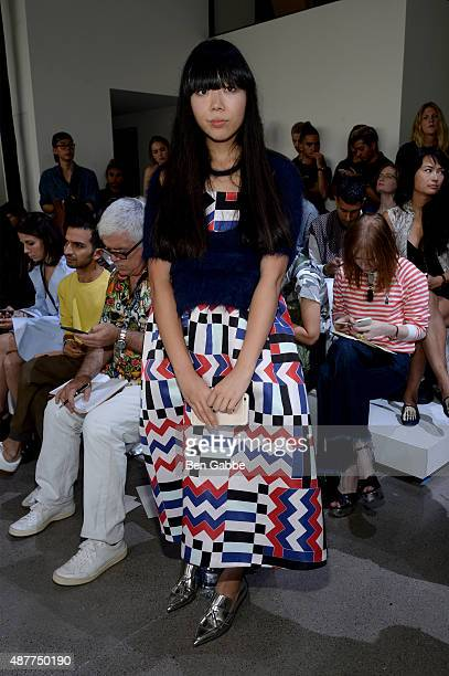 Blogger Susanna Lau attends the Jason Wu fashion show during Spring 2016 New York Fashion Week at Spring Studios on September 11 2015 in New York City