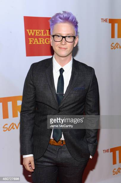 Blogger Tyler Oakley attends the Trevor Project's 2014 'TrevorLIVE NY' Event at the Marriott Marquis Hotel on June 16 2014 in New York City