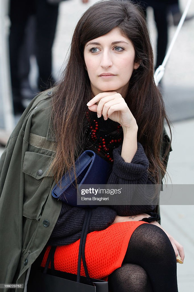 Blogger Valentina Siragusa attends the Pitti Immagine Uomo 83 on January 9, 2013 in Florence, Italy.