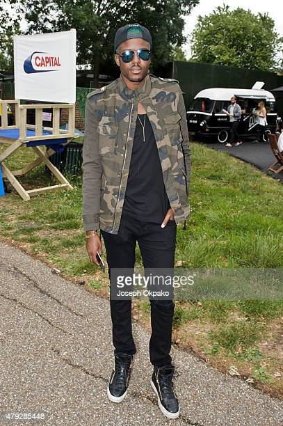 Blogger Vas J Morgan attends the New Look Wireless birthday party at Finsbury Park on June 28 2015 in London England