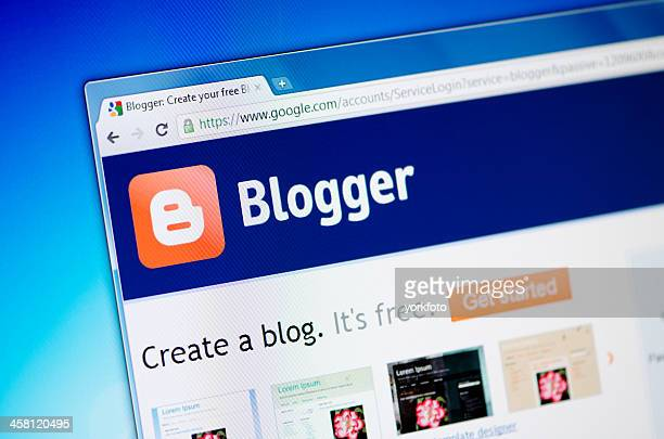 Blogger webpage on the browser