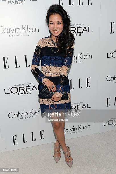 Blogger Wendy Nguyen arrives at ELLE's 19th Annual Women In Hollywood Celebration at the Four Seasons Hotel on October 15 2012 in Beverly Hills...