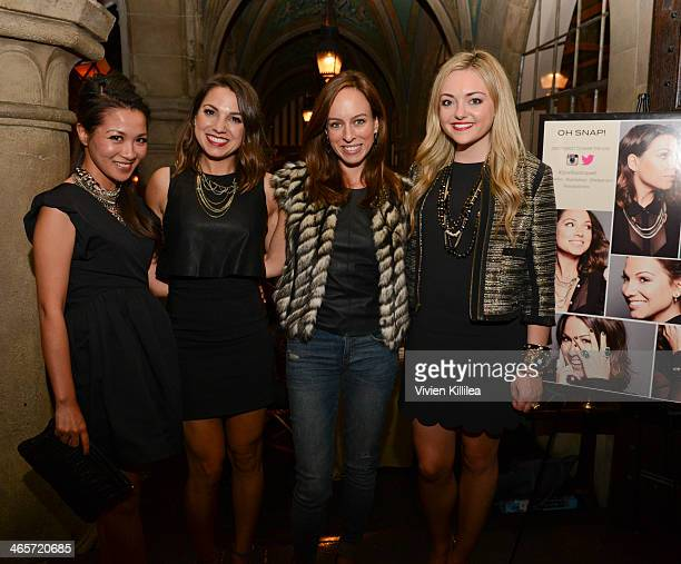 Blogger Wendy Nguyen founder of Simply Stylist Sarah Boyd blogger Sydne Summer and Jessica Sturdy of CapwellCo attend Sarah Boyd x CapwellCo...
